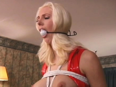 evil bondage time for curvy babe with priceless rack