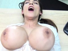 Miss has spent all money for boobs and now returns them