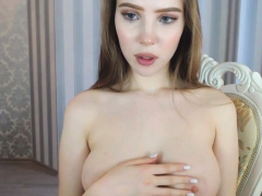 amazing hot bitch has fun time on webcam