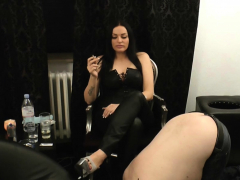 german sklave and his bdsm fetisch femdom smoke milf