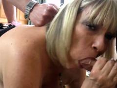 AgedLovE Alisha Rydes takes two Cocks Hardcore