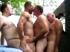 Foursome Bears Group Fuck