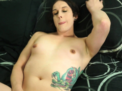Solo tgirl loves analplay during masturbation