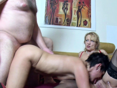 old-german-wife-suprise-husband-with-saggy-tits-threesome