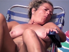 Hidden Camera Beach Amateur Nudists Close-Ups Voyeur Video