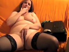 Blond milf having loud orgasm