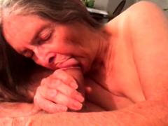 Grandma loves her vibrators