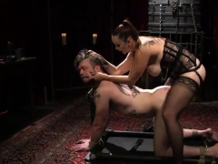 mistress-pegging-a-tied-guy
