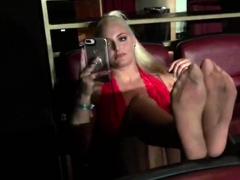Melisa Mendiny Nylon Foot Tease