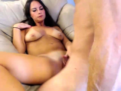 Brunette Wife Webcam Blowjob Handjob Cumshot