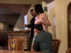 Husband Watching He Licks And Fucks Her Young Pussy
