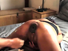 Fisting Her Pussy With a XXXL Butt Plug Inside