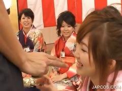 Japanese Geisha Gets Mouth Fingered