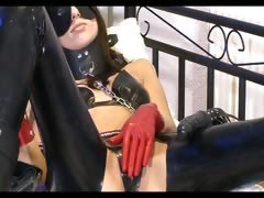 Tied Up Girl Fingers Herself On Bed