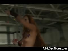 Asian Stripper Gets Naked On The Stage