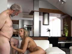 Old4k. Older Husband Knows How To Make His Teen