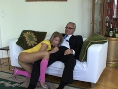 Hot Blonde Chick Bianka F's Vag Gets Fully Satisfied