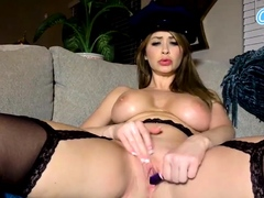 camsoda – sexy pornstar cop in solo oils up her monster tits Hot