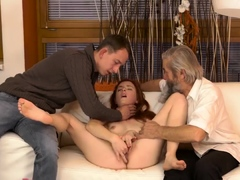 Hot babe mom first time Unexpected practice with an older