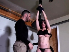 Chubby glasses punished Kyra Rose in Military Sex