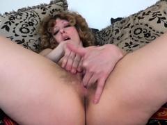 Leona Solo Hairy Masturbation