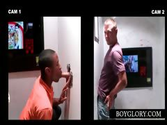 Gloryhole Scene With Couple Giving Blowjob