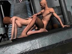 Blonde hentai taking bath and masturbate in t