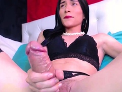 Amazing Monster Shaft TBabe in Stokings on Webcam Part 2