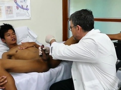 Asian twink breeded by DILF at doctors office
