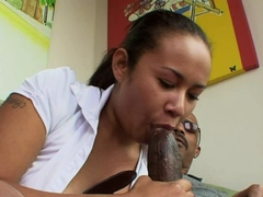 Black Lucy Rayne Twerks on Grandpas BBC