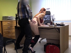 LOAN4K. Busty redheaded MILF has sex with a hung guy