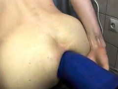 Solo Anal Monster Dildo Fisting