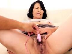 Asian Amateur Masturbates With Big Sex Toys