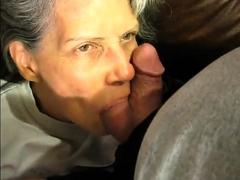 granny likes his balls and cock