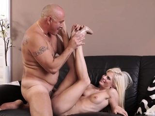 Birthday present for daddy and old man milf Horny