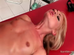 Gorgeous Blonde Honey Comes To The Part6