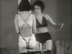 Beautiful Girls In Underwear In Strange Action